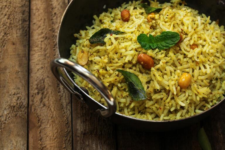 Recette dietetique Riz au curry