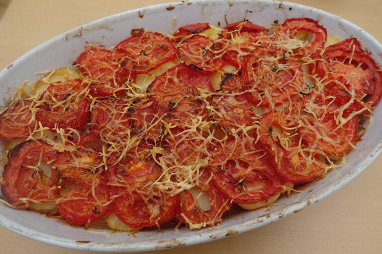 gratin pommes de terre et tomates