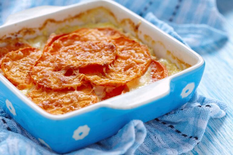 Recette gratin patates douces chataignes